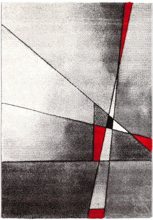 Kusový koberec Brilliance Grey/Red 21807-951, 80 x 150 cm